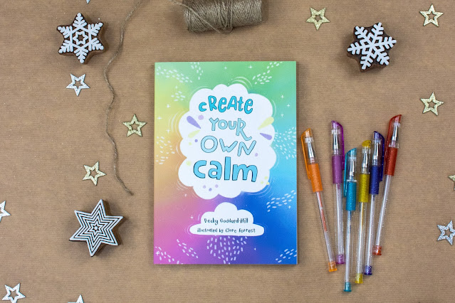 Create Your Own Calm Book by Becky Goddard with gel pens ready to be wrapped for a Tween Gift