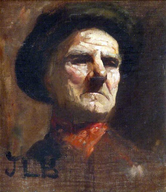 James Lawson Balfour, Self Portrait, Portraits of Painters, James Lawson , Fine arts, Lawson Balfour, Portraits of painters blog, Paintings of James Lawson , Painter James Lawson