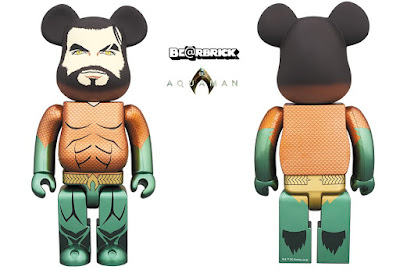 Aquaman Movie 400% Be@rbrick Vinyl Figure by Medicom Toy x DC Comics