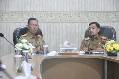 Kadis Kominfotik Provinsi Lampung Lakukan Evaluasi Pengelolaan Informasi dan Komunikasi Publik