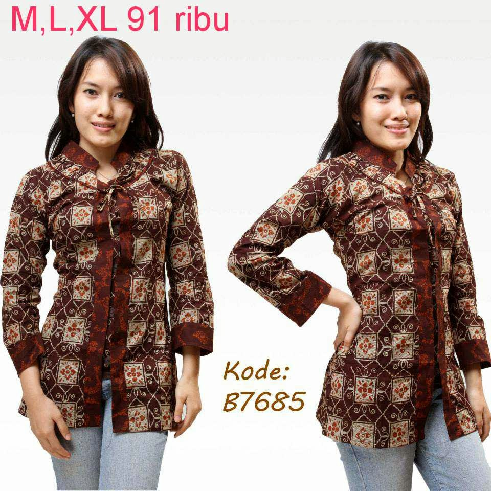 Model Baju Batik Terbaru: Contoh Model Baju Batik Wanita