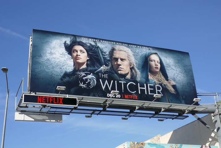 Witcher series premiere billboard