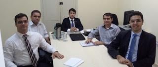 Prefeito Olivânio Remígio e o atual se encontram com o representante do MPPB