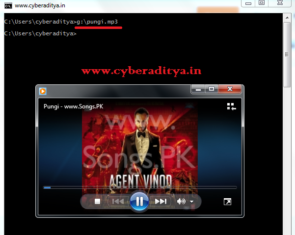cyberaditya: How to play audio and video file in cmd
