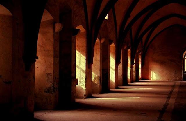 medieval monaster under natural lighting