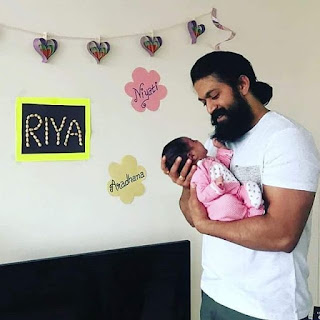 Yash with new born baby girl