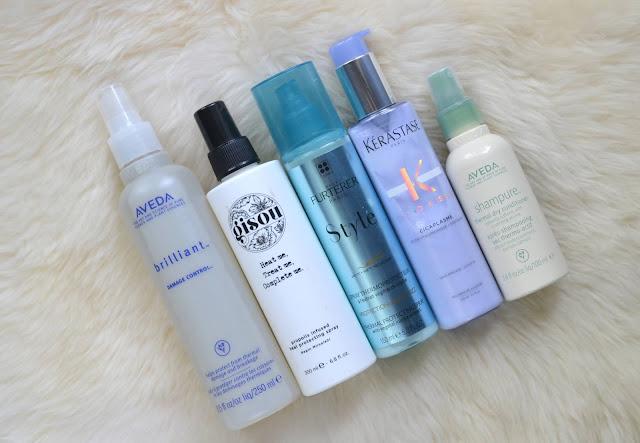 Heat Protectants for Hair Flatlay