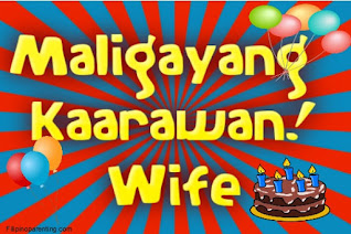 Maligayang Kaarawan Wife