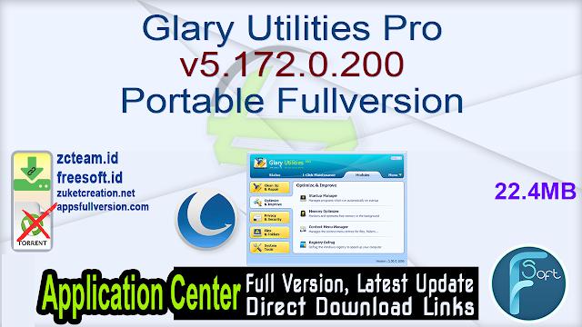 Glary Utilities Pro v5.172.0.200 Portable Fullversion