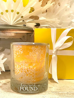 Illuminating Yellow,Ultimate Gray,candles,candle decor,candle wraps,winter decorating,winter,snowflake decor,winter snowflake decor,yellow and gray palette,gray and yellow palette,color of the year 2021,re-purposing,up-cycling,trash to treasure,color,color palettes,Pantone color of the year,colorful home,DIY,diy decorating,winter,junk makeover,tutorial,budget decorating ideas