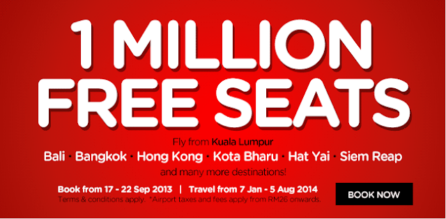 Promosi Airasia 1 Million Free Seat