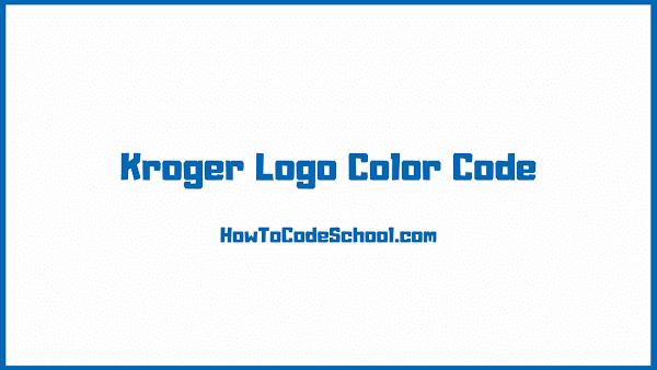 Kroger Logo Color Code