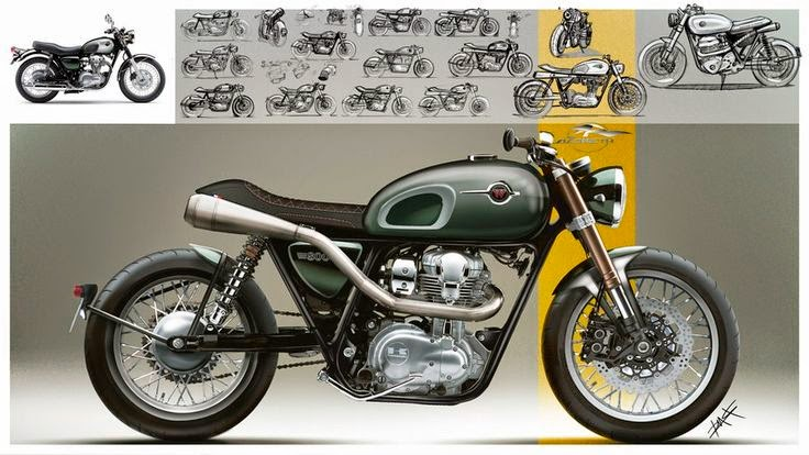 Racing Caf U00e8  Kawasaki W800  U0026quot Racer U0026quot  By Lazareth