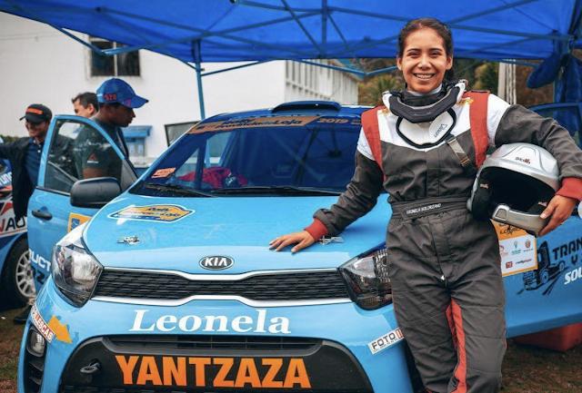 Leonela Solórzano, entre la ingeniería y el rally