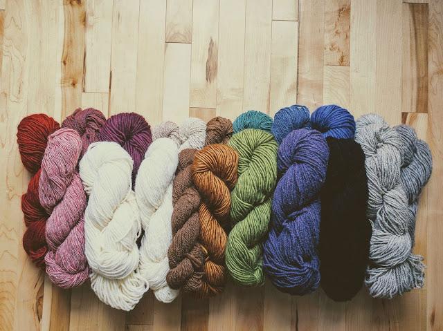 Sélection de laines québécoises de Ficelle - tricot
