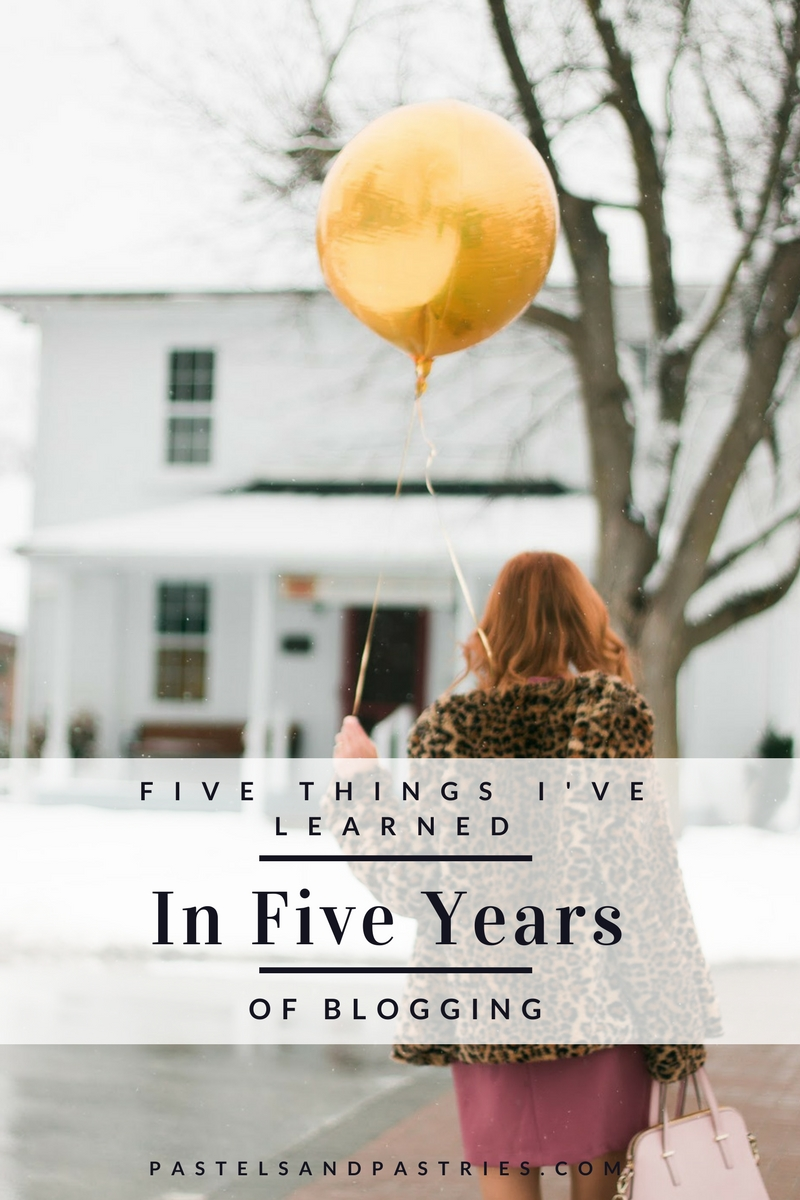 5 things Ive learned in 5 years of blogging, ,DVF leopard coat, Pink Simons dress,  Michael Kors black ankle booties, Blog Tips, Blog Help,Gold Balloons