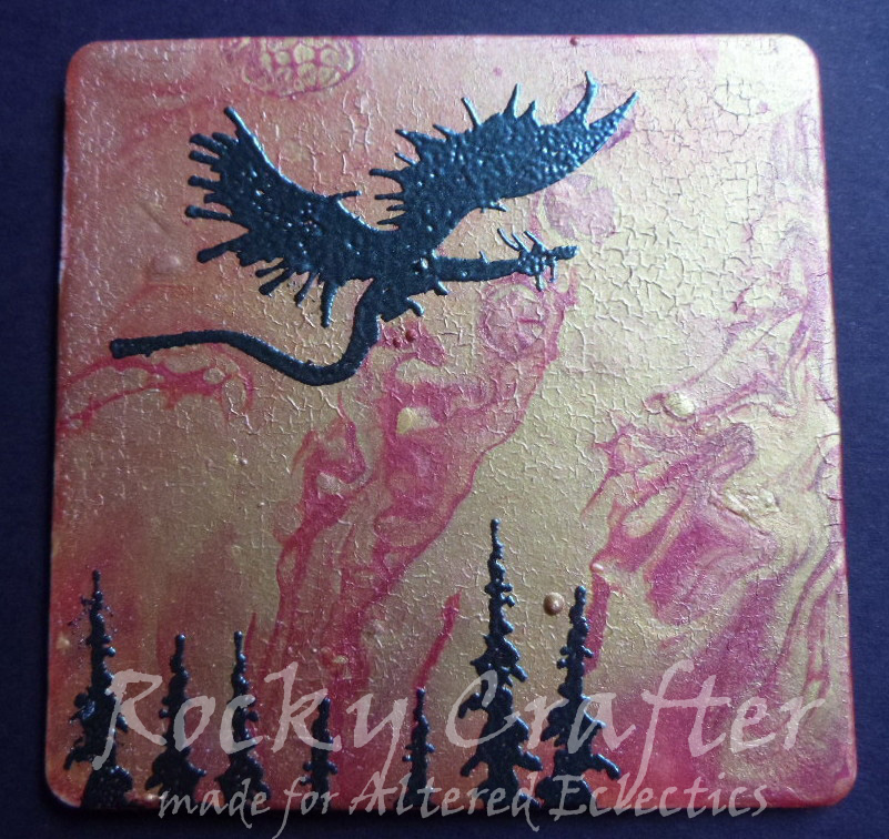 Rocky's Crafting Blog: Acrylic Pour Coaster