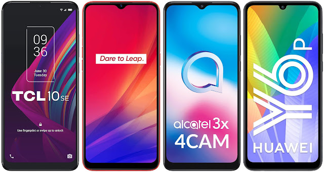 TCL 10 SE vs Realme C3 vs Alcatel 3X 4CAM vs Huawei Y6p
