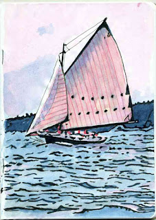 """Friendship Sloop"" - Watercolor by Paul Sherman"