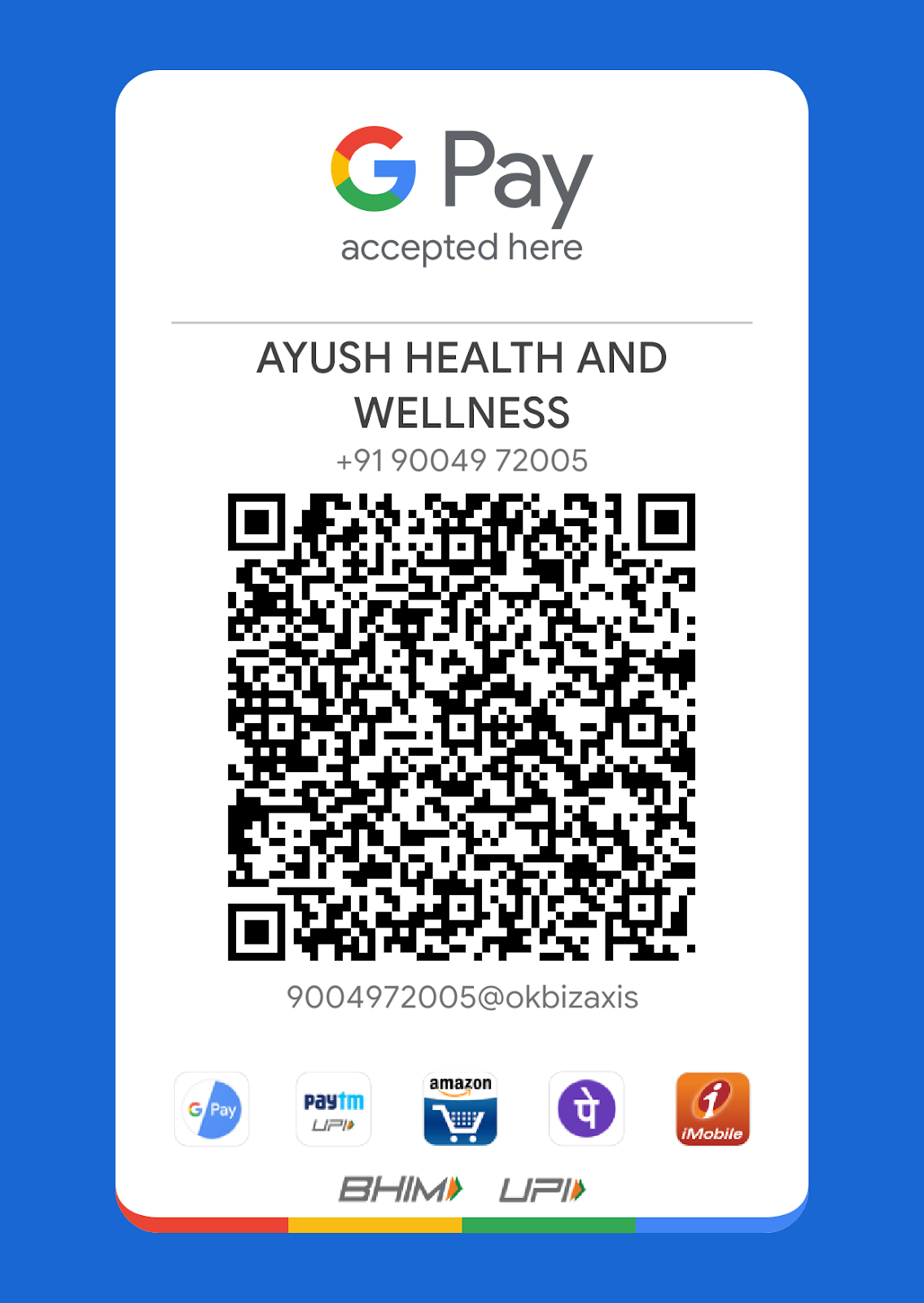 Payment AYUSH HEALTH AND WELLNESS™ Easily and Save your Time! Pay on time and take a regular service from AYUSH HEALTH AND WELLNESS™. Live your life with Ayush.