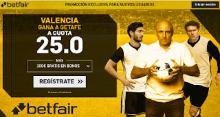 betfair supercuota Valencia gana a Getafe 18 abril