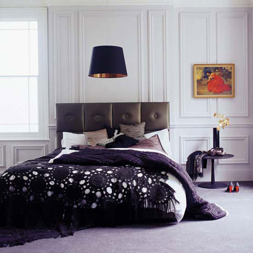 Bedroom Interior Design Black And White Bedroom Ceiling Design In India Wall Decor For Mens Bedroom Sherwin Williams Bedroom Paint Ideas: Ideas For Bedrooms: Stylish Black And White Bedroom