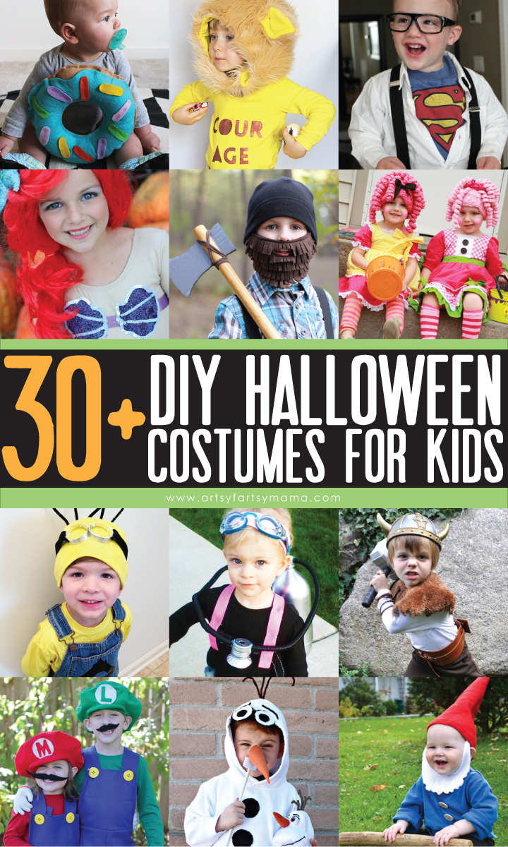 30 diy kids halloween costume ideas at artsyfartsymamacom - Halloween Costumes Diy Kids