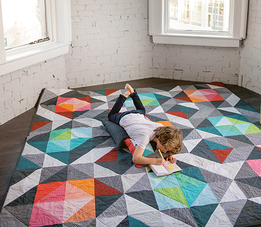 Here and There Squares Quilt Free Pattern
