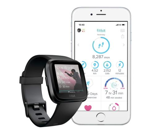 Fitbit Versa Health and Fitness Smartwatch 501 Rs Off