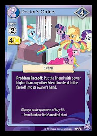 MLP Doctor's Orders The Crystal Games CCG Card