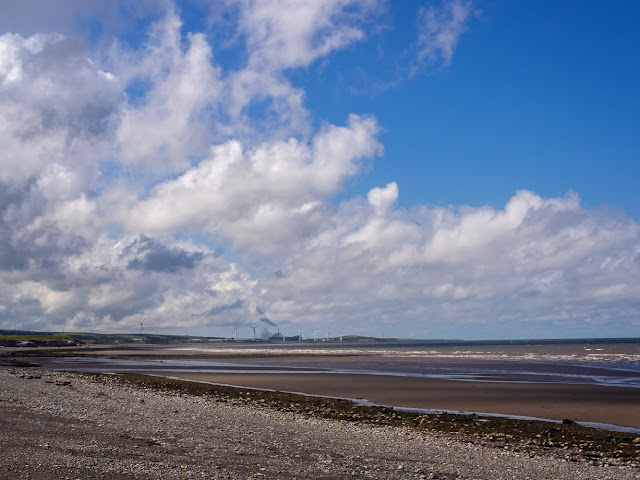 Photo of fine, dry and windy weather at Maryport beach yesterday (Thursday)
