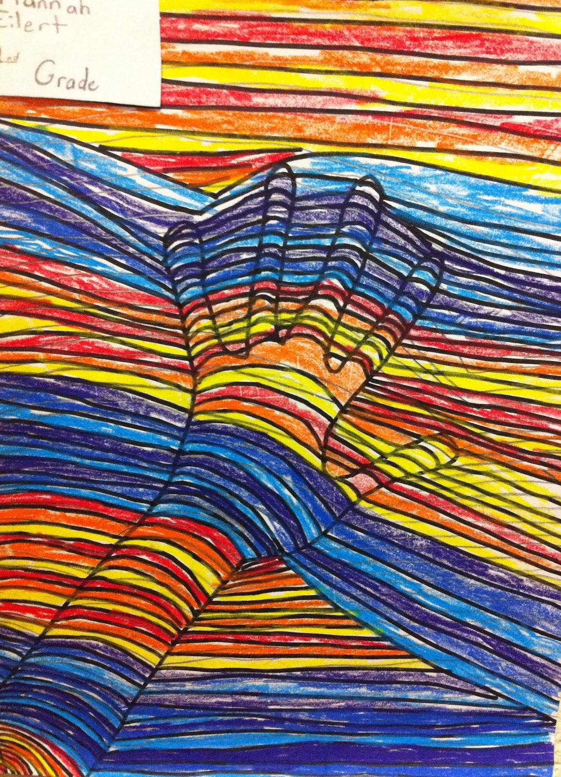 Yankeetown Art Second Grade Op Art