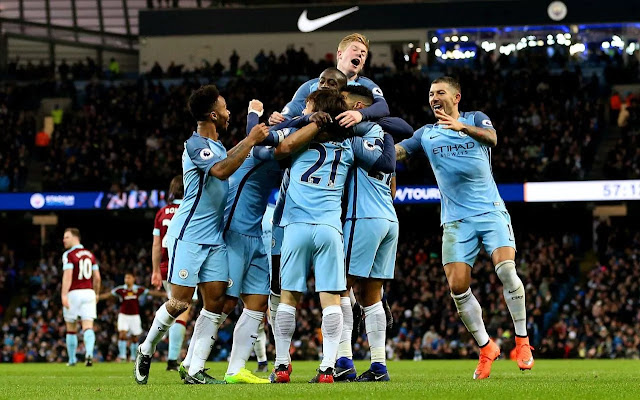 Manchester City Dirahan Imabang Burnley 1-1