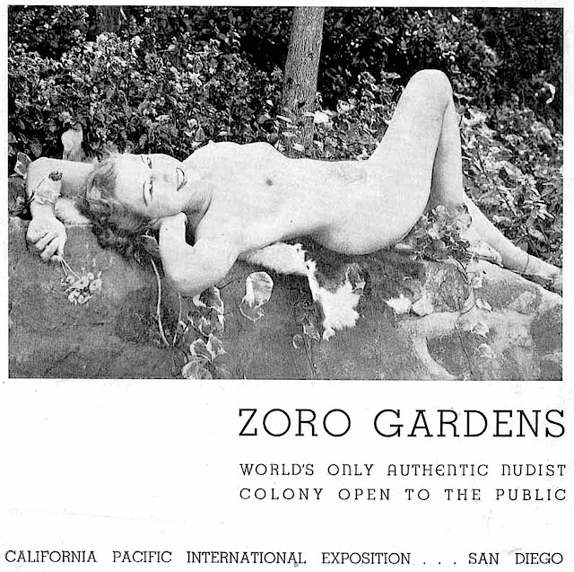 a nudist colony on display at the 1936 California Pacific International Exposition