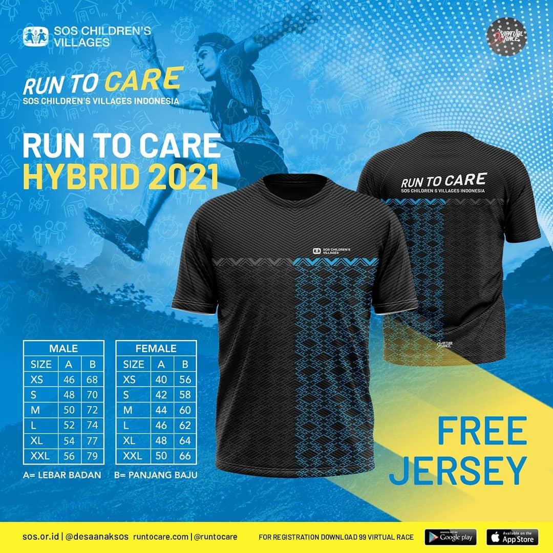 Running Jersey 👕 Virtual Race #RunToCare Hybrid • 2021