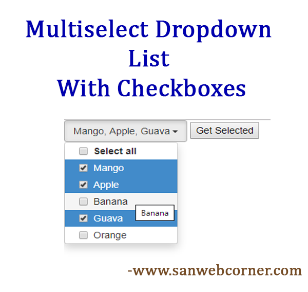 Multi Select Checkbox jquery and Bootstrap