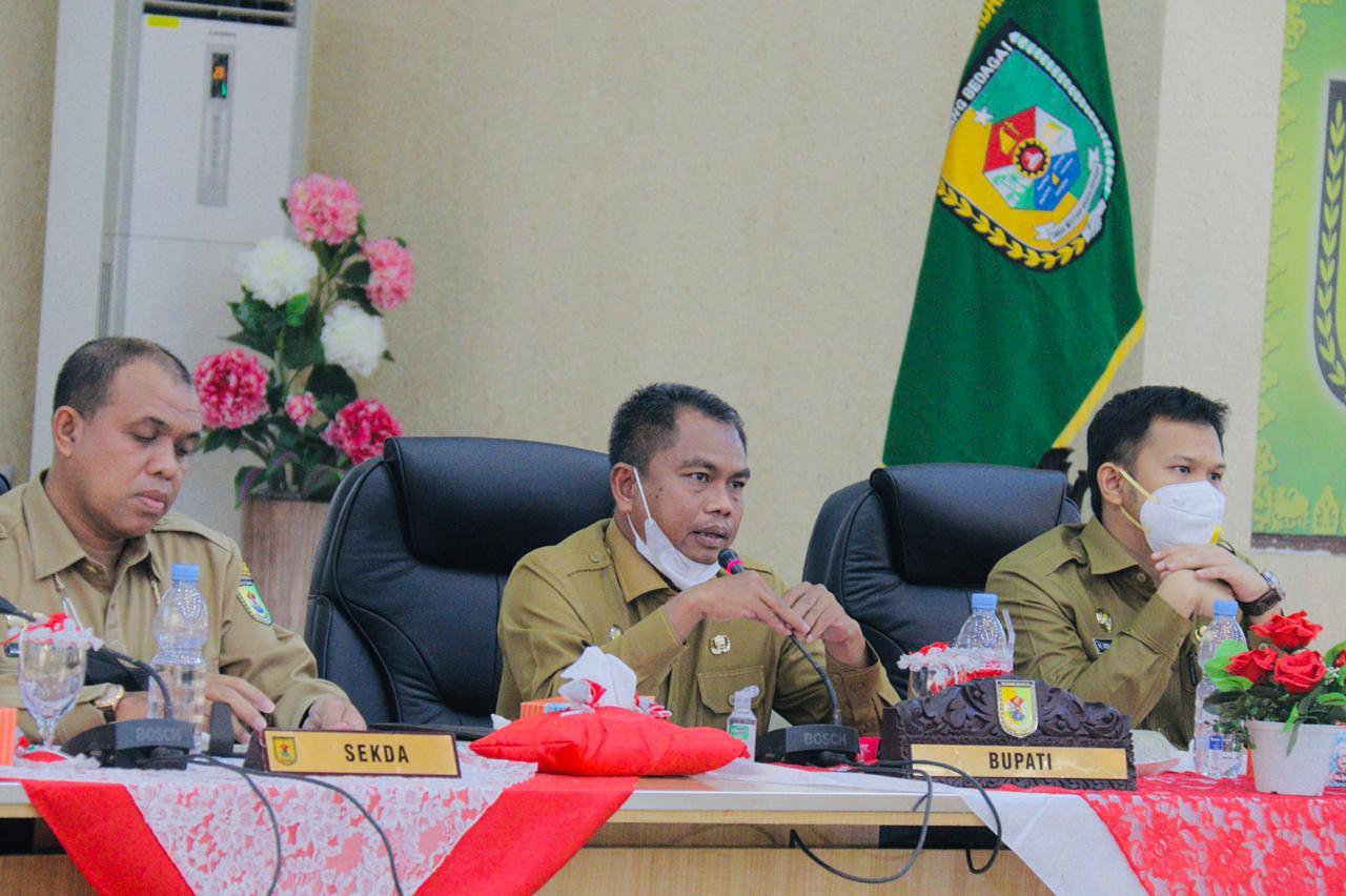 Bupati Sergai Menghadiri  Rapat Finalisasi LKPJ Tahun 2020