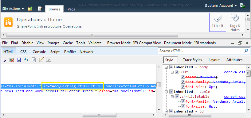 sharepoint 2010 i like it feature remove