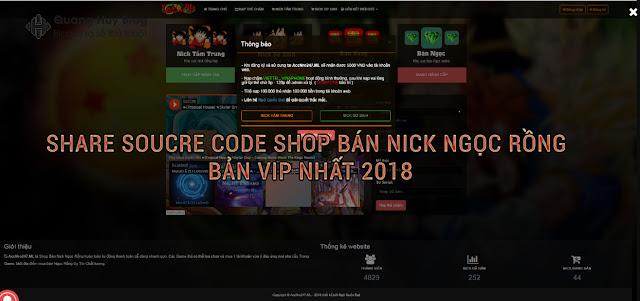 Share soucre code shop bán acc ngọc rồng bản VIP