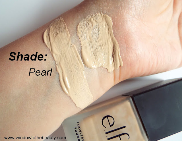 e.l.f. Flawless Finish Foundation Pearl swatches