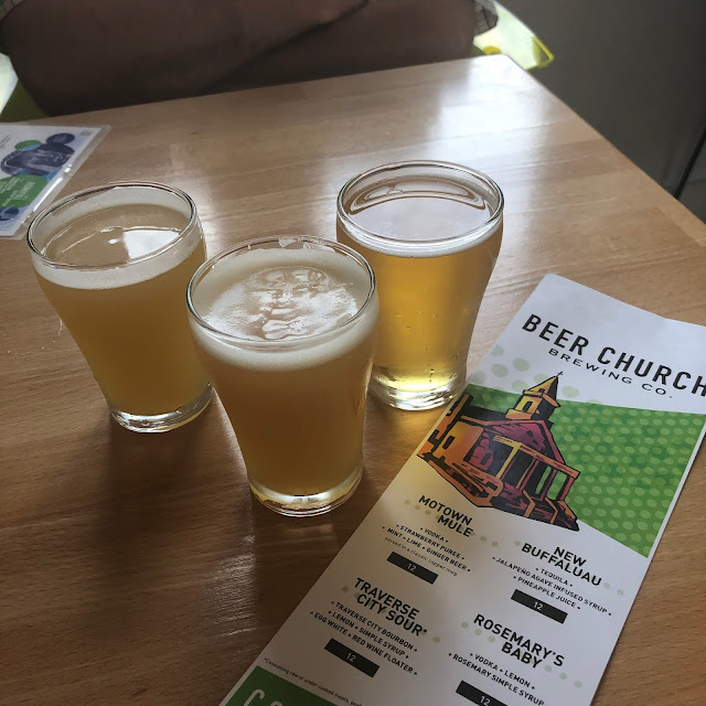 Sampling a range of beers at Beer Church Brewing Co.