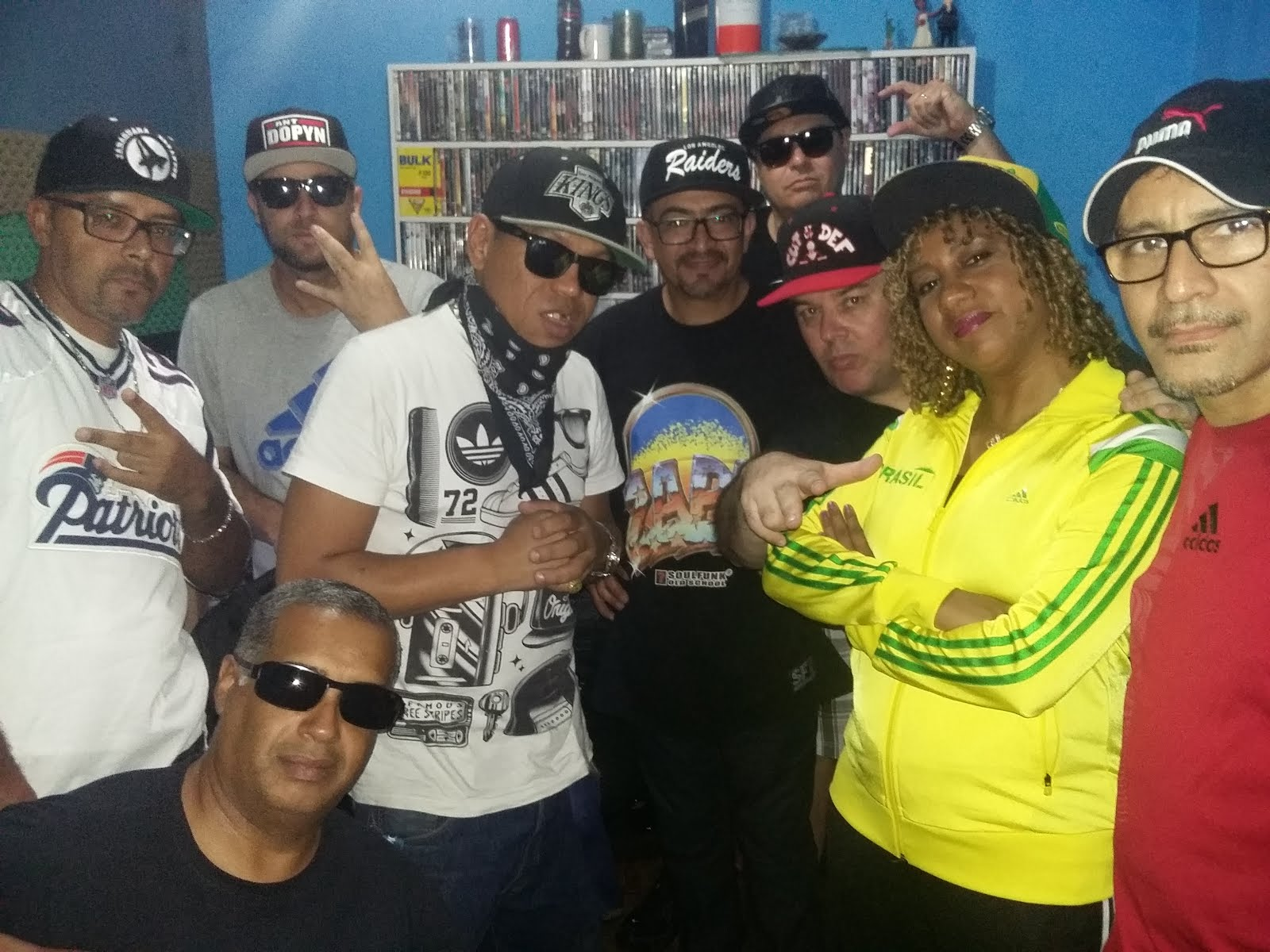 GRAVAÇÕES DA PRIMEIRA CYPHER DO SP HIP HOP ALL STARS