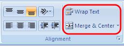 Mengatur posisi teks dalam Excel