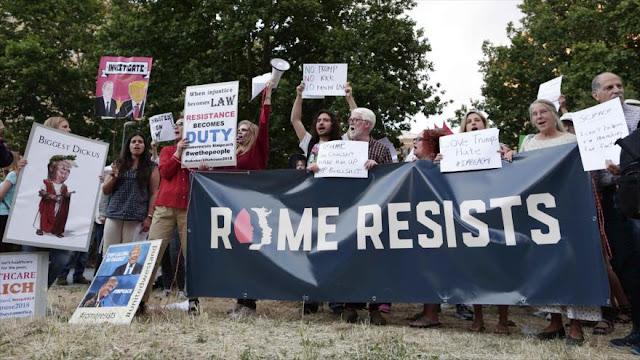 Manifestaciones contra Donald Trump llegan a Italia