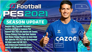 Download PES 2021 PPSSPP Android Chelito V2 Real Faces HD & Full Transfer