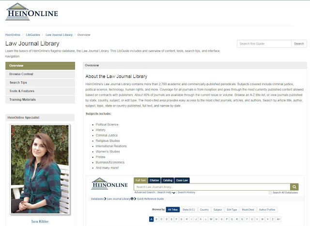 Image of Law Journal Library Libguide
