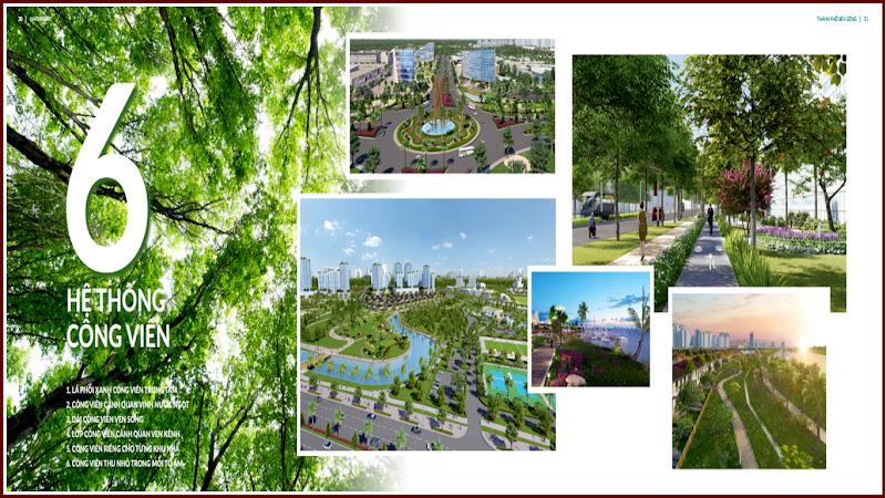 6 hệ thống công viên của khu đô thị Waterpoint