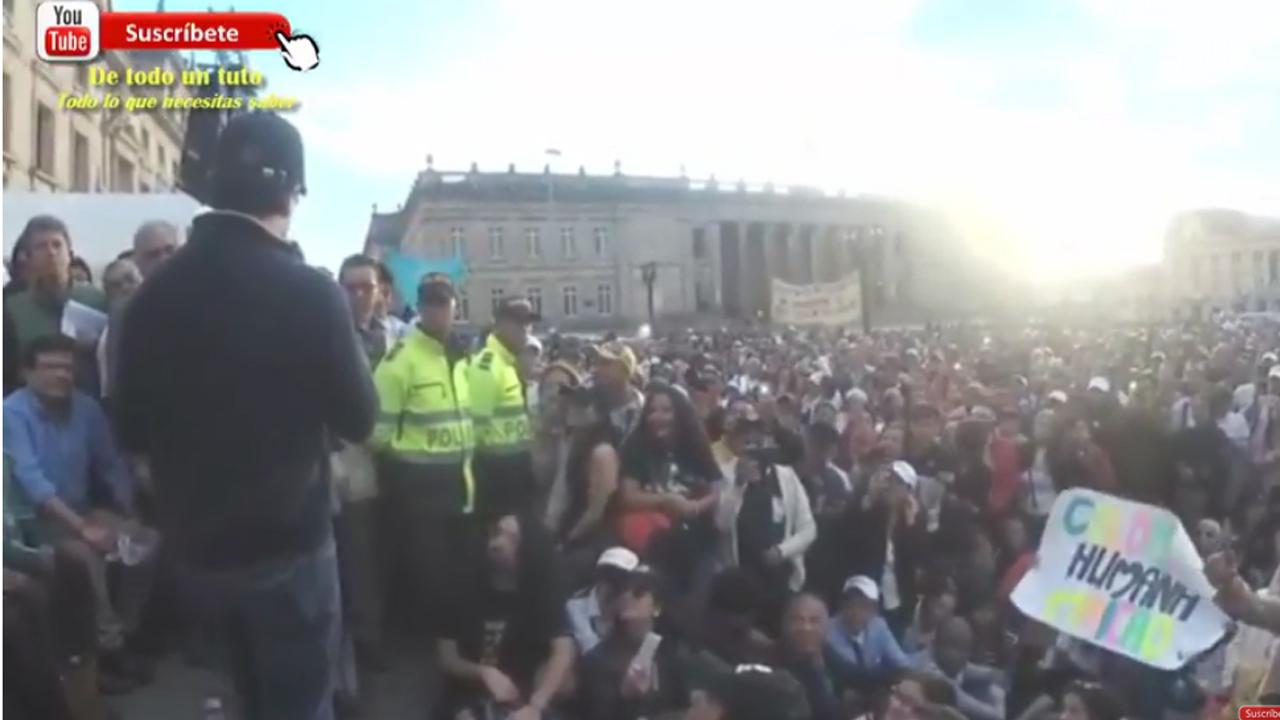 Discurso de Petro en la fundación oficial de la Colombia Humana. Plaza de Bolívar.