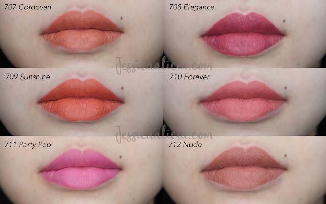 Review : ODESSA COSMETICS Matte Lipsticks (All 12 Shades) by Jessica Alicia