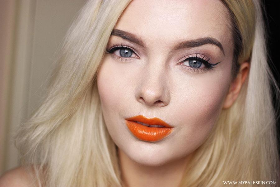 Bright Orange Lipstick